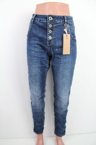 Damen Jeans Hose Baggy Übergröße BIg Size 38-48 Knopfleiste //Karostar //K705