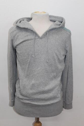 algodón M star Mezcla Jumper capucha manga Escote de G de larga Gris con Tamaño Hombre SXwqq16