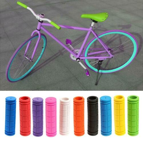 BMX MTB Bicycle Cycling Mountain Scooter Bike Handle Bar Rubber Soft End Grip