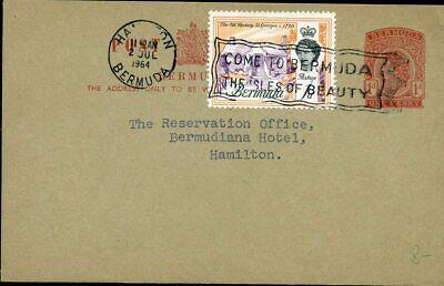 Motiviert 426525 Karibik Bermuda Gsk Mit Zf 1964 Als Ortskarte In Hamilton Gelaufen Kann Wiederholt Umgeformt Werden.