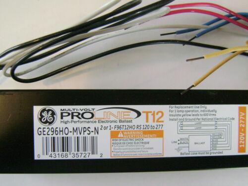 GE-296HO-MVPS-N Programmed Start Electronic Ballast for 1 /& 2 F96T12HO Bulb