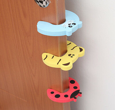 Child Pack Baby Toddler Safety Animal Cartoon Door Stop Finger Pinch Guard