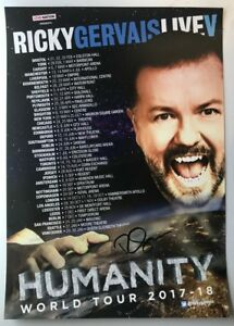 HUMANITY-WORLD-TOUR-POSTER-AUTOGRAPHED-by-RICKY-GERVAIS-AFTER-LIFE-the-OFFICE