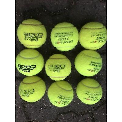 9 Tennisbälle Gebraucht verschiedene Marken, sauber.