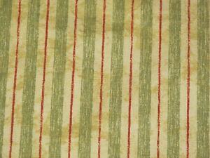 Waverly Pisa Striped Cotton Fabric 675 Yards Green Red Cotton Ebay