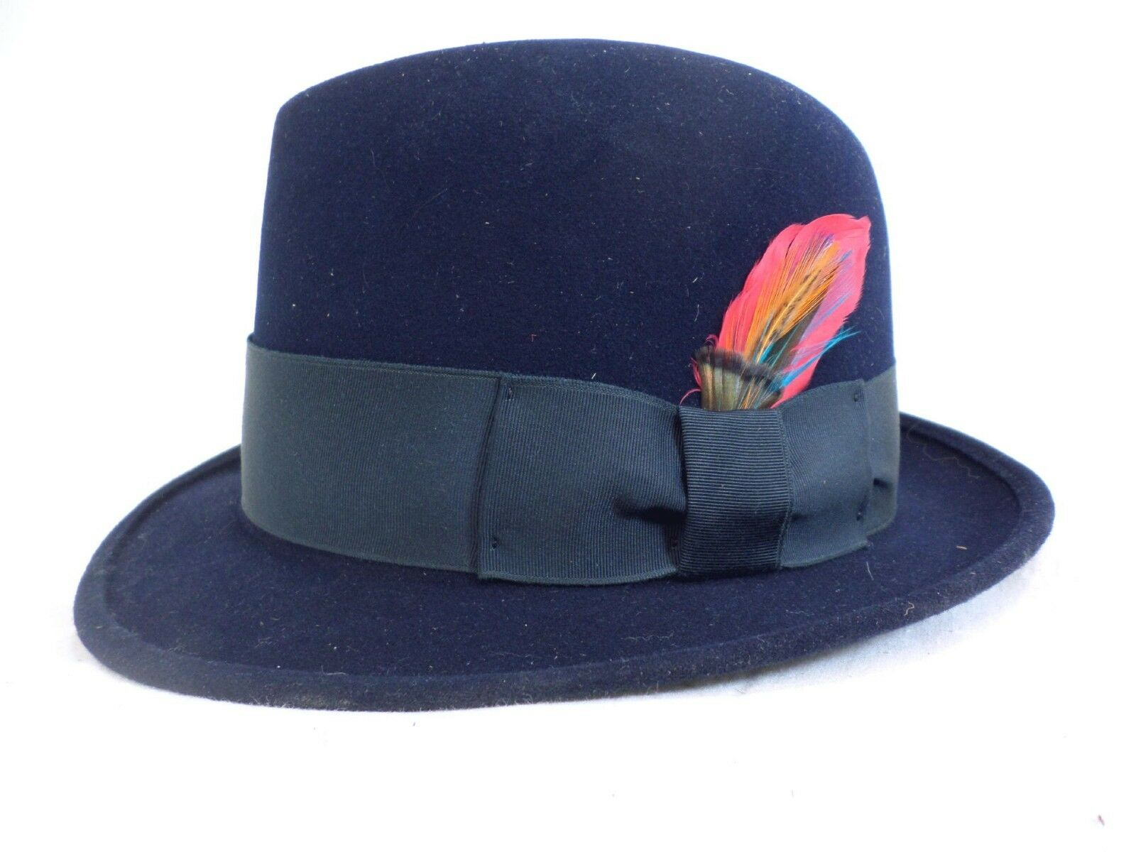 Reed Hill Snap Brim hat Navy Fur Blend 67 8 - MADE IN USA