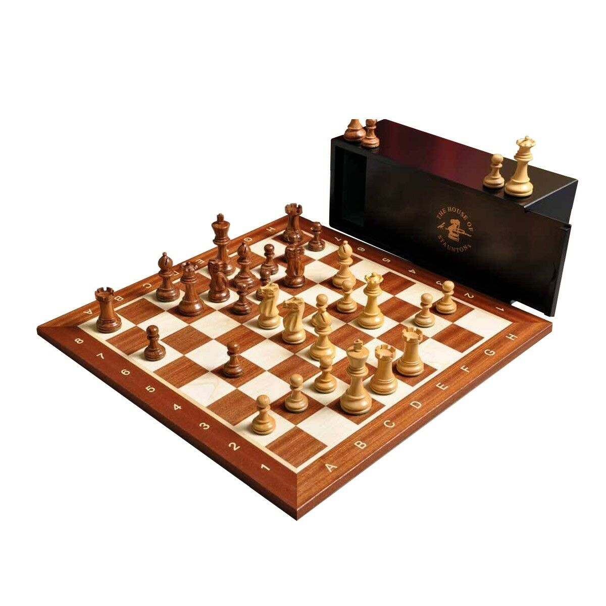 The Library Library Library Grandmaster Chess Set, Box, and Board Combination - golden pinkwood 8e4d0f