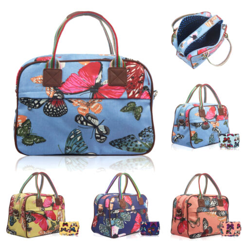 Ladies Girls Oilcloth Fluttering Butterfly Day Bag Maternity Travel Hand Luggage