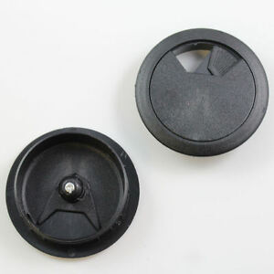 GREY COMPUTER DESK PLASTIC GROMMET COVER 52mm 60mm CABLE WIRE TIDY OFFICE