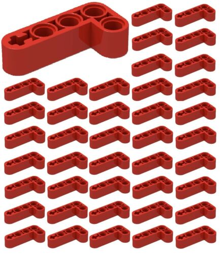 ☀️50x NEW LEGO RED 2 x 4 Liftarm Bent 90 #32140 Studless Mindstorm