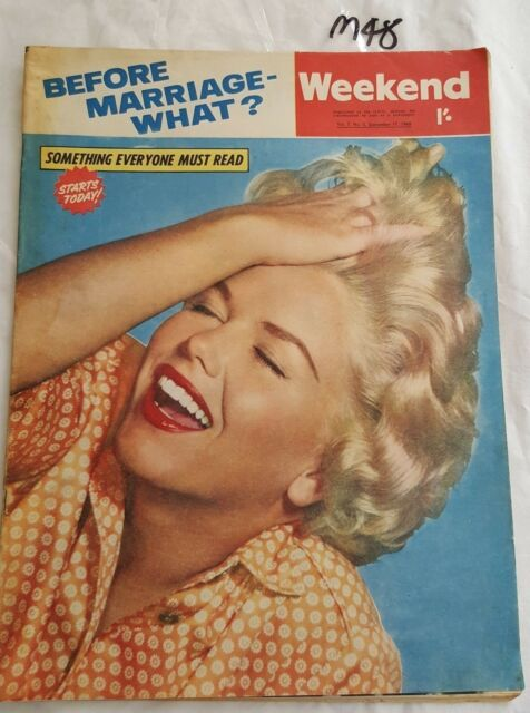 WEEKEND MAGAZINE 1960 SEP 17 Carol Blake (MARILYN MONROE Lookalike) COVER