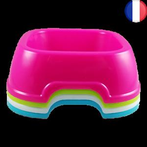 Grande Gamelle Carré Colorée 20cm pour Chien ou Chat Flashie