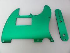 Tele Telecaster Green Mirror Humbucking pickguard + control plate set Fender