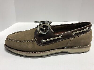 Rockport Perth Brown Leather Boat Shoes
