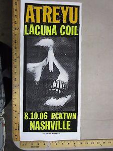 2006-Rock-Roll-Concert-Poster-Atreyu-Print-Mafia-S-N-LE-100-Nashville