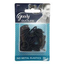 Goody Ouchless Shiny Mini Elastics, Black 50 ea
