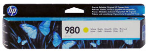 HP D8J09A #980 Yellow Ink Cartridge Genuine New