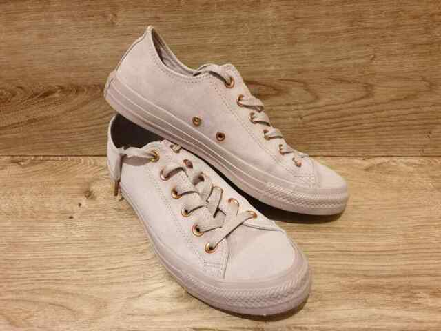 CONVERSE Ladies One Star Lilac Leather Lace Up New Shoes Trainers UK Size 3.5
