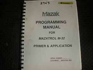 mazak programming manual for mazatrol m 32 control ebay rh ebay com mazatrol m2 programming manual mazatrol programming manual pdf