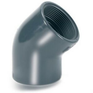 PVC-Threaded-45-Degree-Elbow-Bend-90mm-3-034-BSP-Industrial-Pipe-Fitting-15L119