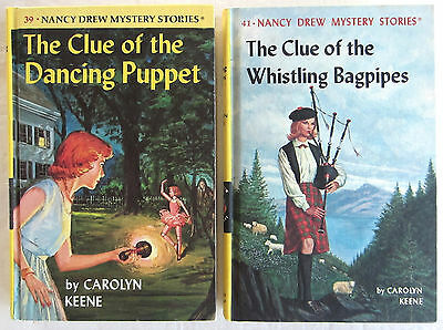 Nancy Drew Lot Clue of the Dancing Puppet Whistling Bagpipes Carolyn Keene