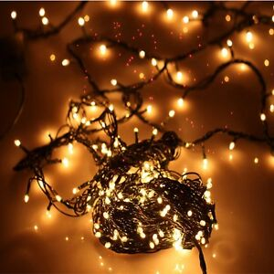 100 weihnachtsbaum lichterkette au en warmwei leuchte led. Black Bedroom Furniture Sets. Home Design Ideas