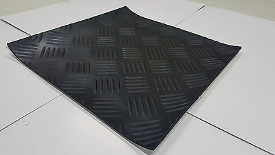 CHECKER Self-Adhesive Rubber Safety Mat 12 in x 12 in.