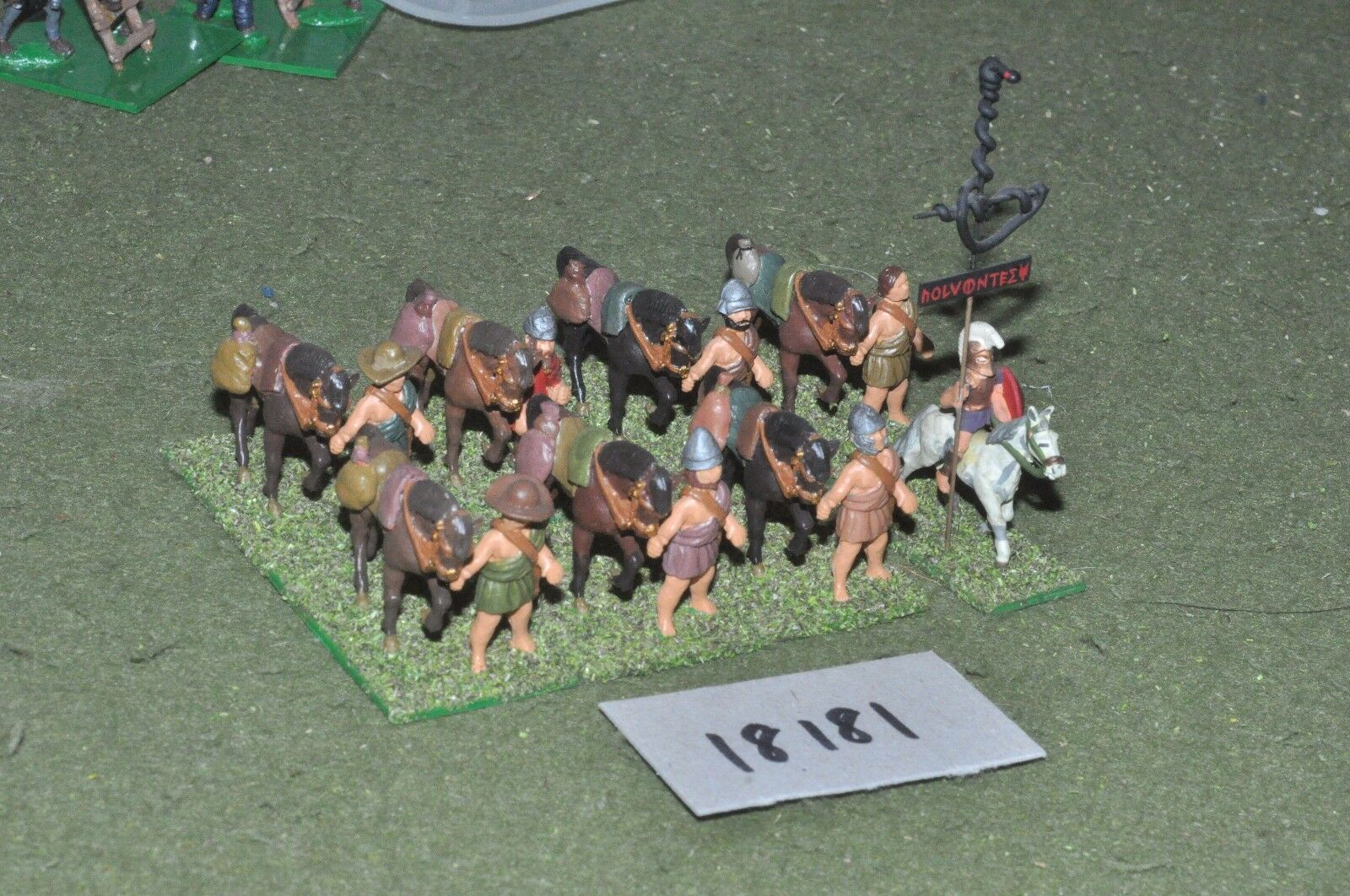 25mm classical   greek - ancient horse holders - inf (18181)