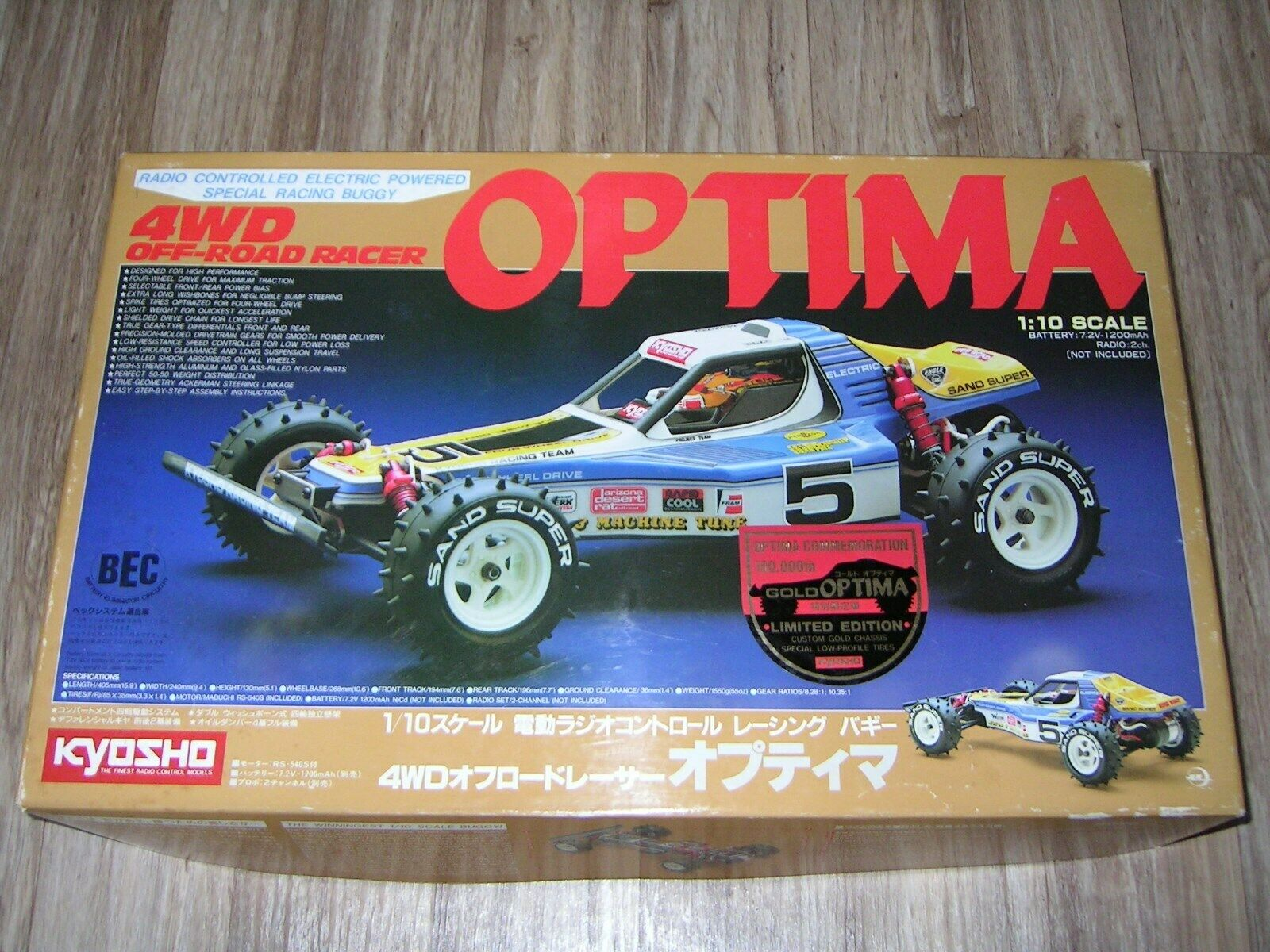 Kyosho 1 10 optima gold edition + extras extras extras 8af441