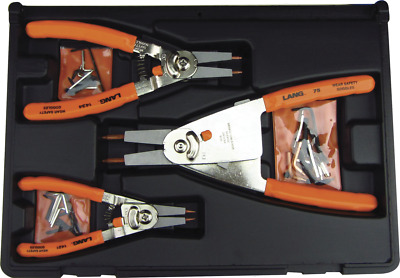 Lang Tools 1434 Interchangeable Circlip Pliers /& Tip Set  7 51mm Made in USA