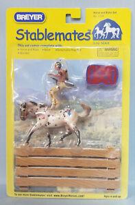 Breyer-5208-Stablemates-Native-American-Indian-Rider-with-Appaloosa-Leopard-NIB