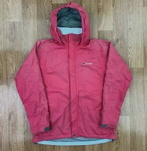 BERGHAUS-Womens-Waterproof-AQ2-Jacket-Hooded-Rain-Coat-UK-12-Pink