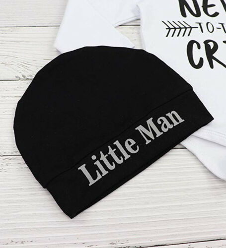 Newborn Baby Boys Clothes 3PCS Casual Letter Print Romper Tops+Pants+Hat Outfits