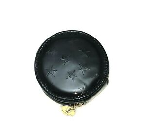 New-YSL-Black-Patent-Star-Single-Side-Leather-Small-Round-Coin-Purse-Vip-Gift