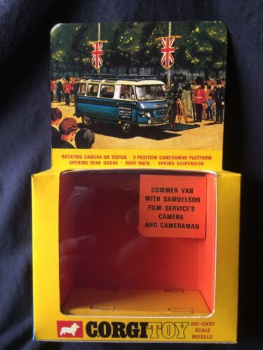 Corgi 479 Samuelsons Camera Van Empty Repro Box With Inner Stand Only