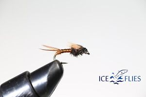 BH. 4-pack Pheasant tail Tungsten Available in size 8-16 ICE FLIES