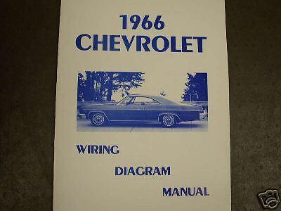 1966 Chevrolet Full Size Wiring Diag Manual | eBay