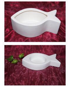 Teelichthalter Fisch Dekoration Fisch Tischdeko Kommunion