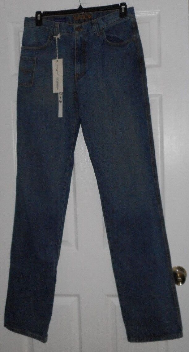 LJC Apparel Mens Watson Light Denim Jeans Size 32 x 40 NWT