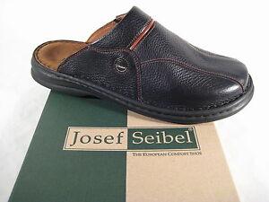 Seibel clogs pantoletten 10999 Schwarz Leder weiches lederfubett