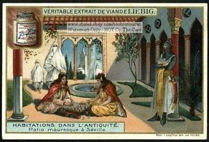 Moor-Patio-In-Seville-Spain-Patio-Mauresque-A-Seville-c1905-Trade-Ad-Card