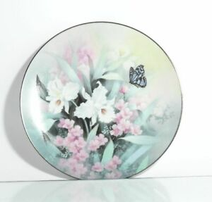 Collection-Plate-Edwin-WITH-Knowles-Sapphire-Wings-Butterfly-Certificate-Boxed