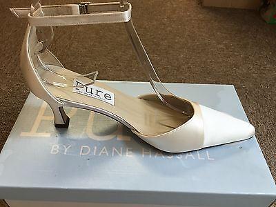 Satén color marfil Bridal Dama Boda Tamaños del zapato 3-8 Pure & preciosos Casper