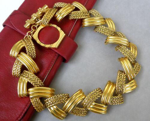 Claire Deve Paris large Necklace Vintage Gilded O… - image 1