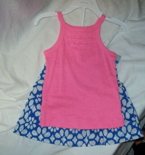 GIRLS BABY MULTIPLE SIZES NEW W TAG CARTER 2 PC SKIRT SET WITH DIAPER COVER