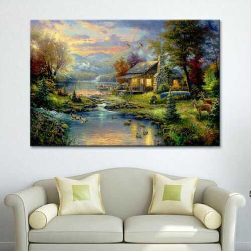 Posters And Prints Oil Painting Landscape Wall Pictures Decors Canvas Paintings