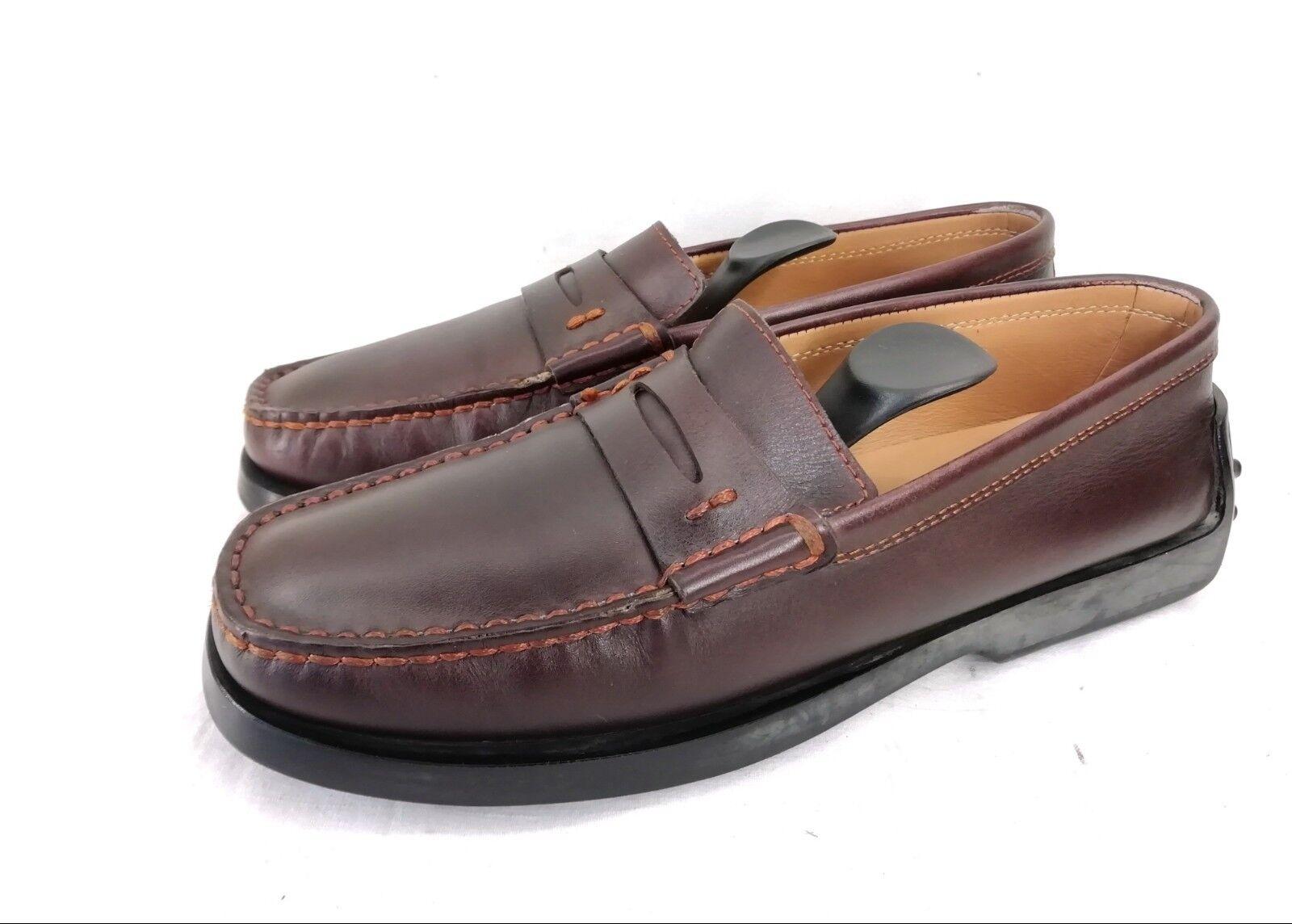 Tod's gommino Penny Penny Penny loafer mocasín zapatos señora zapatos cuero marrón talla 35,5 top estado  bienvenido a comprar