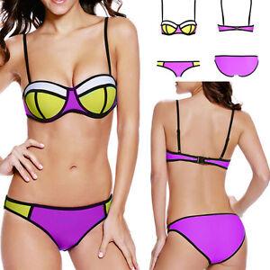 Lighting pinkblack bikini top