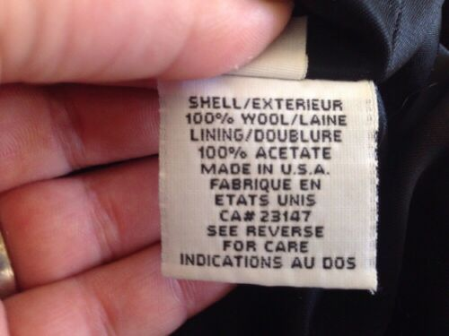 Wool 100 39 Made Us Usa Us Vintage Uld Talbots 100 10 Pea Peacoat Made Peacoat Petites Navy Vintage Navy Frakke 39 Usa Coat Petites 10 Ærme Talbots f7HUq