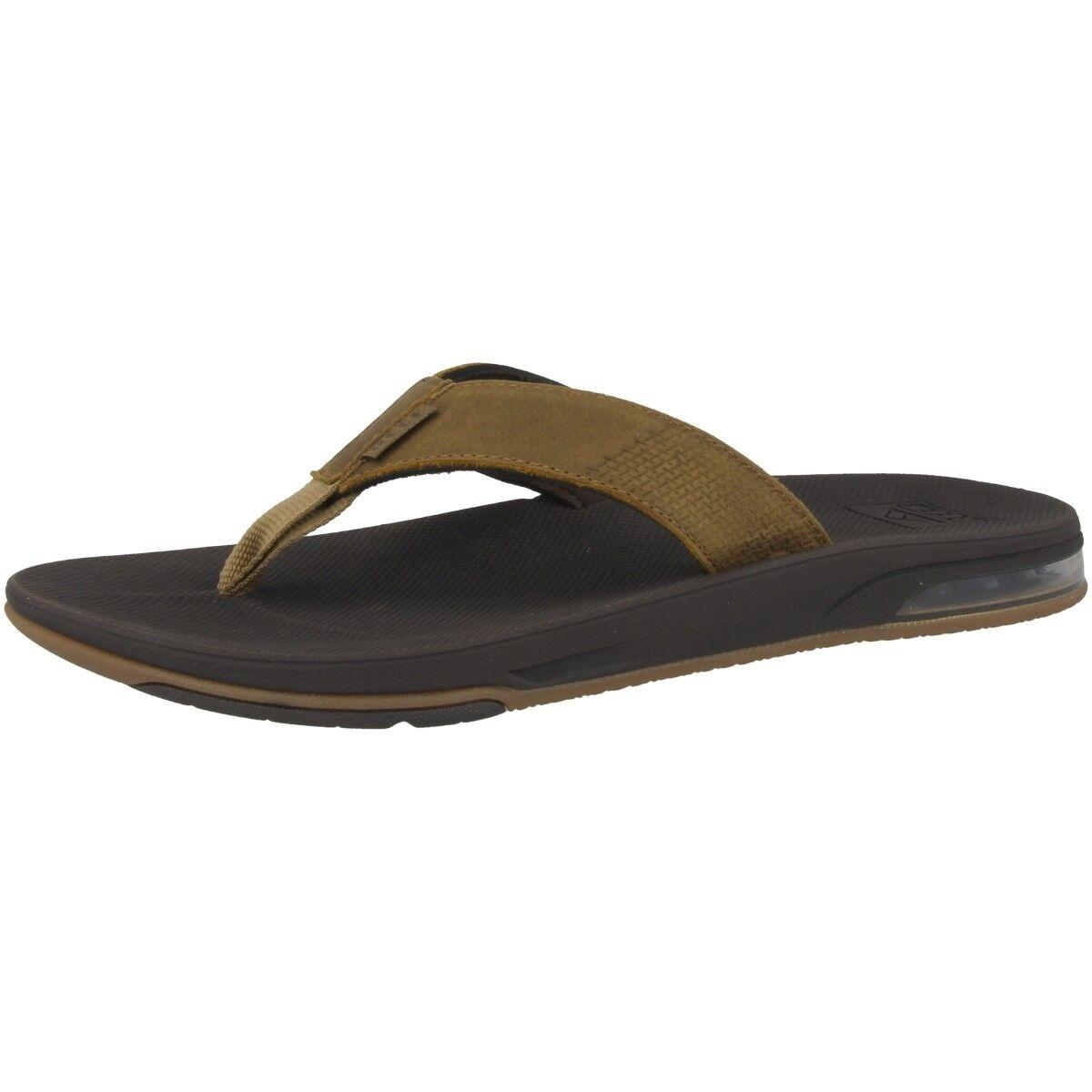 Reef Leather Fanning low tira dedo zapatos sandalia Chanclas Baño rf0a3ol2bro